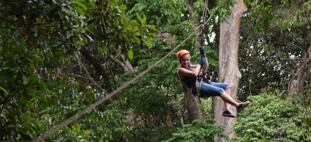 Ziplining in Mabira Forest