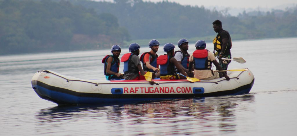 Rafting on the Nile river