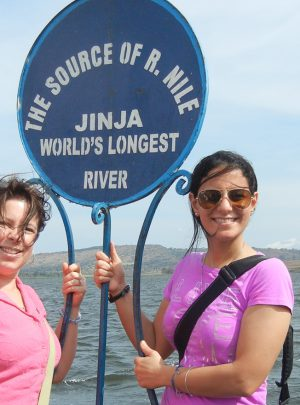 Having a moment at the source of the Nile