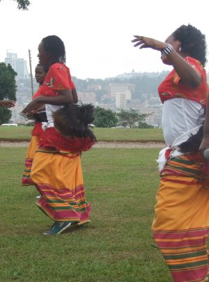 Cultural dance from Buganda in central Uganda