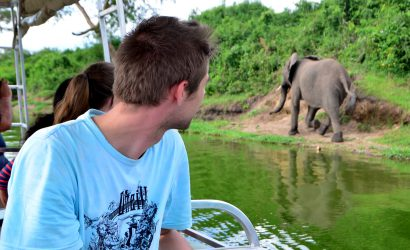 Boat cruise along Kazinga Channel in Queen Elizabeth National Park