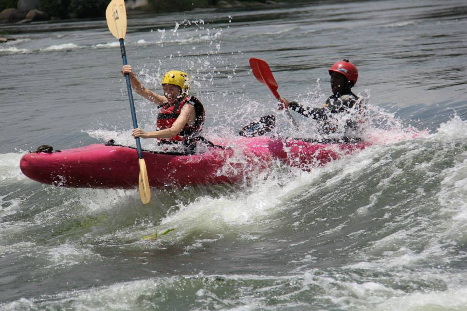Water rafting along the Nile